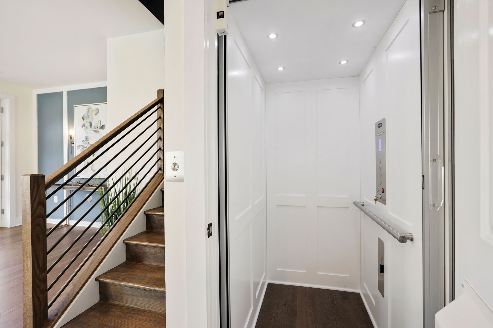 Elevator, Elevator Townhomes in Gaithersburg, MD, Crown by Craftmark Homes