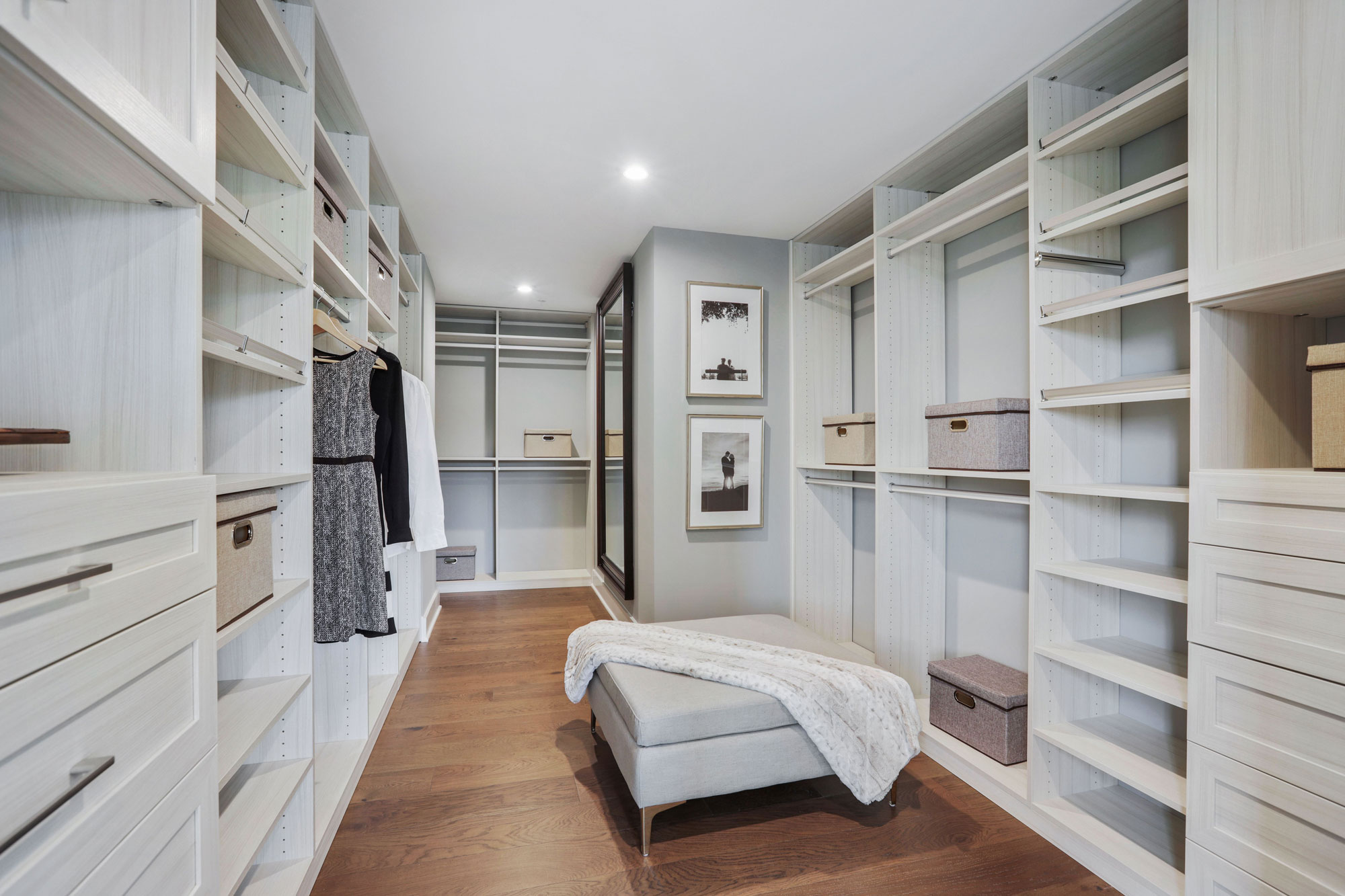 Walk-in Closet, Elevator Townhomes in Gaithersburg, MD, Crown by Craftmark Homes