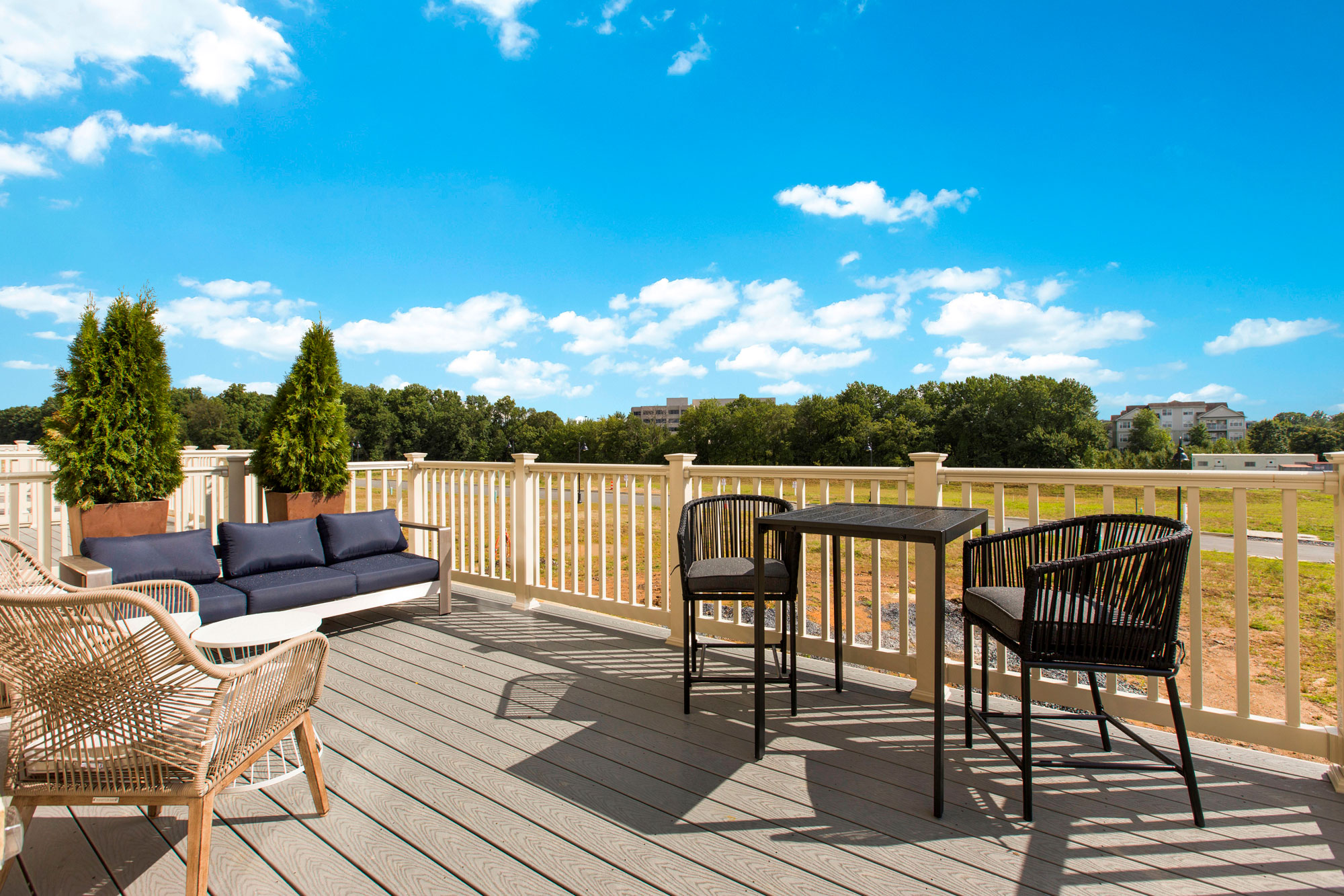 Outdoor Patio, Elevator Townhomes in Gaithersburg, MD, Crown by Craftmark Homes