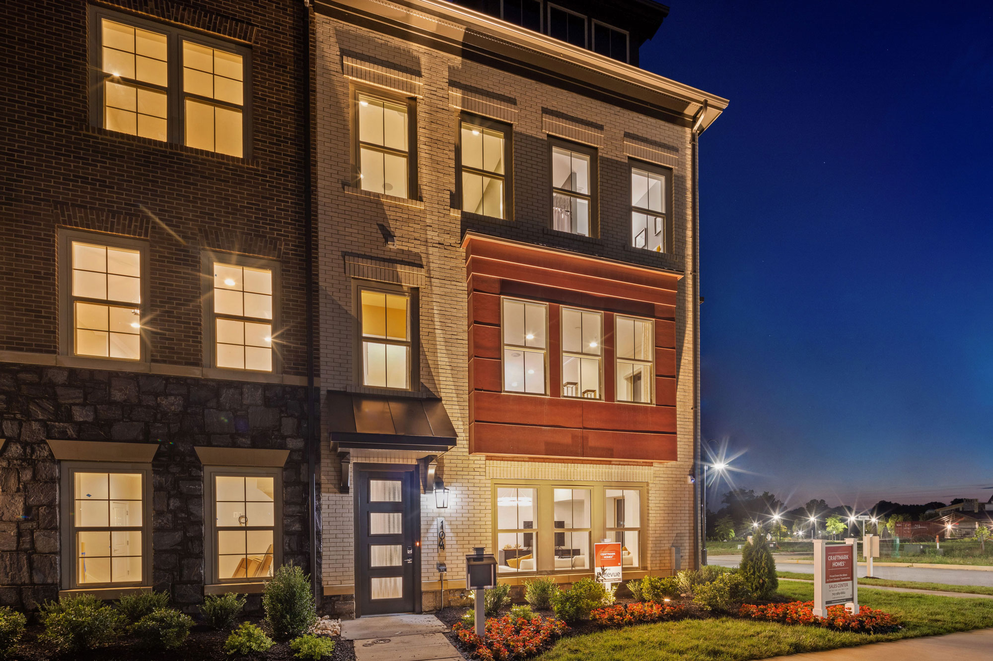 Exteriors, Elevator Townhomes, Gaithersburg MD, Crown by Craftmark Homes