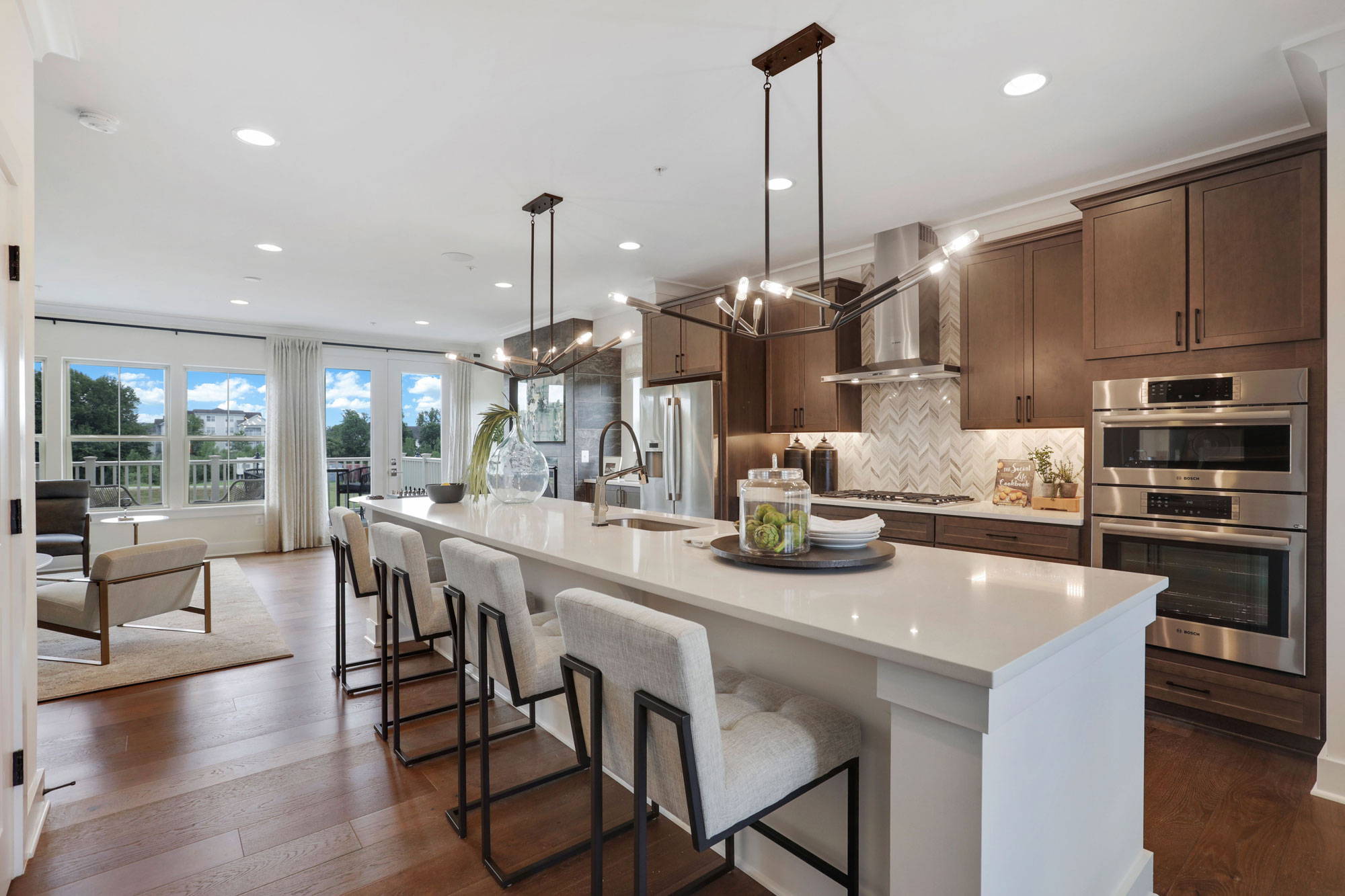 Gourmet Kitchens, Elevator Townhomes, Gaithersburg MD, Crown by Craftmark Homes