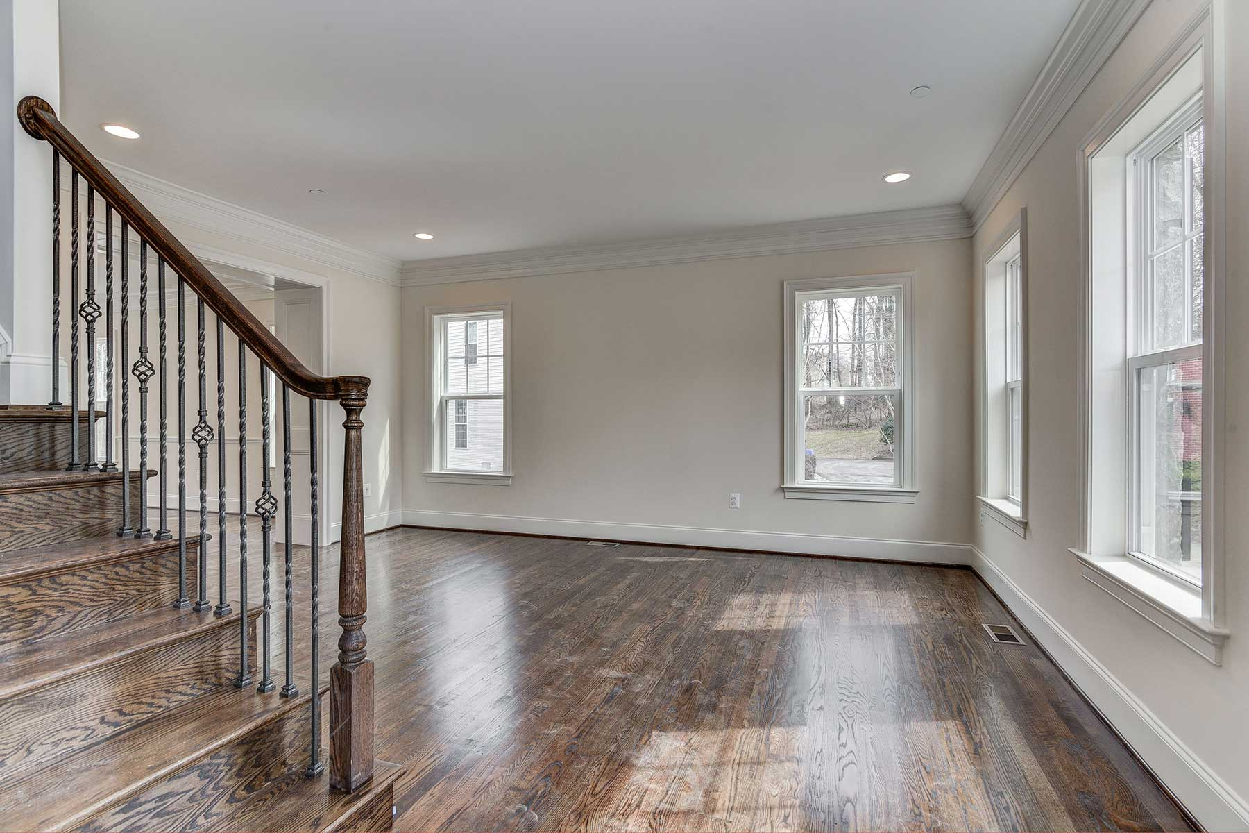 Living Space, Finished Custom Home, Chevy Chase, Gaithersburg, Craftmark Homes