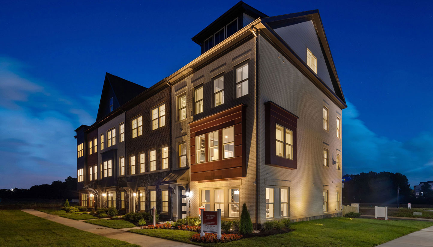 The Bellevue Floor Plan, Townhomes Available in Gaithersburg, MD